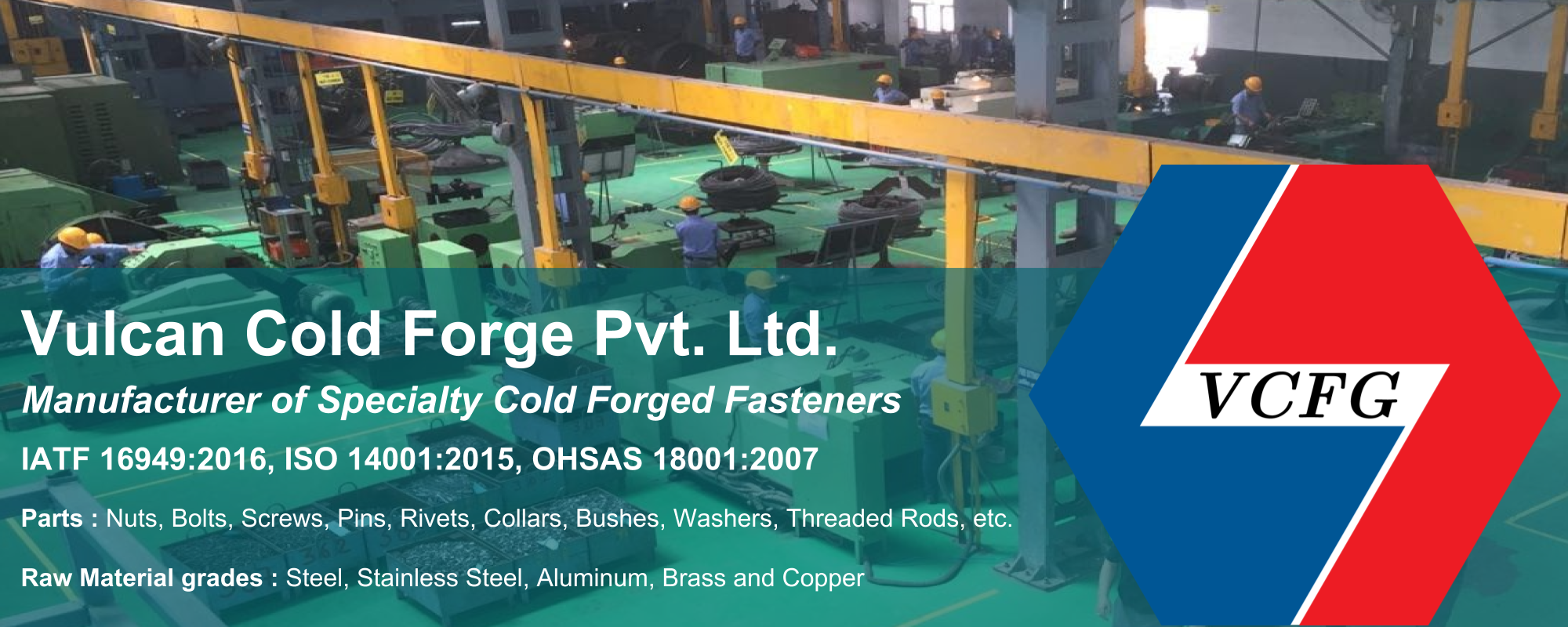 Vulcan – Manufacturer of specialty cold Forged Fasteners